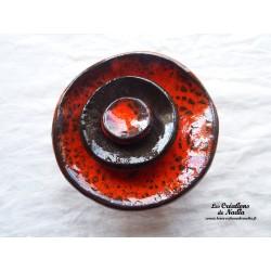 Fleur à coroles petit modèle, couleur orange,  noir et orange