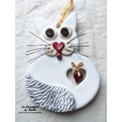 Félix le Chat en céramique blanc