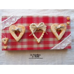 Tableau rectangulaire coeur