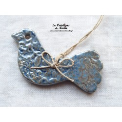 Oiseau bleu gauloise impressions fines dentelles