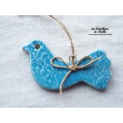 Oiseau bleu lagon impressions fines dentelles