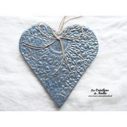 Coeur Hansi bleu gris métal