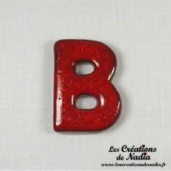 Lettre céramique B