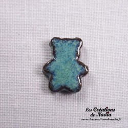 Sujet ourson turquoise