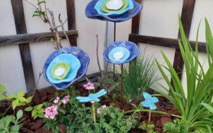 Fleurs en céramique pour les jardins