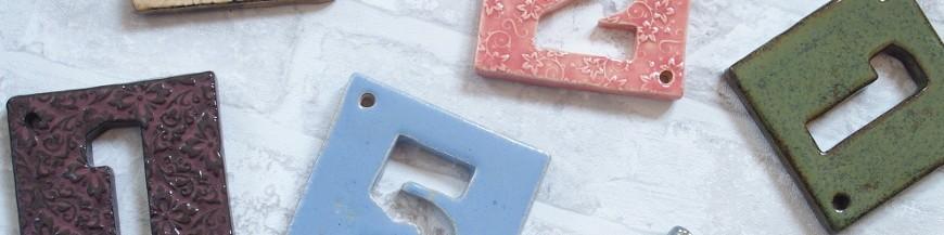 Plaques numéros de maison en céramique