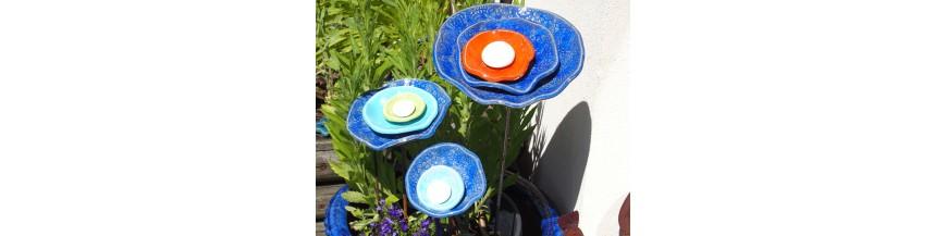 Grandes fleurs en céramique